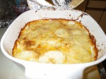 Potatoes Au Gratin, I had to use a bigger casserole pan than the recipe said, they probably didn't consider costco sized potatoes